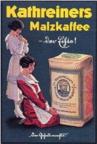 ADVERT KATHREINERS MALZKAFFEE MALTED COFFEE GERMANY POSTER